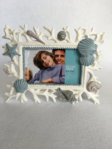 Beach Coral and Sea Picture Frame