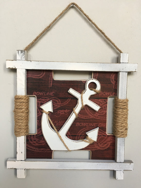 Beach Nautical Anchor Sign