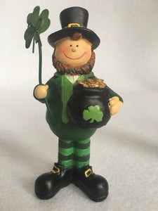 Saint Patrick's Day Man With Pot of Gold or Lady With Shamrocks