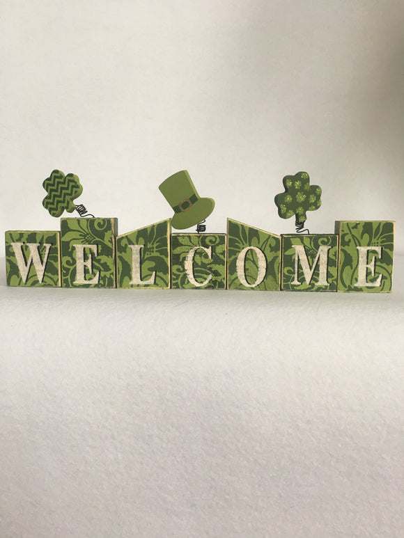 Saint Patrick's Day Welcome Block Sitter