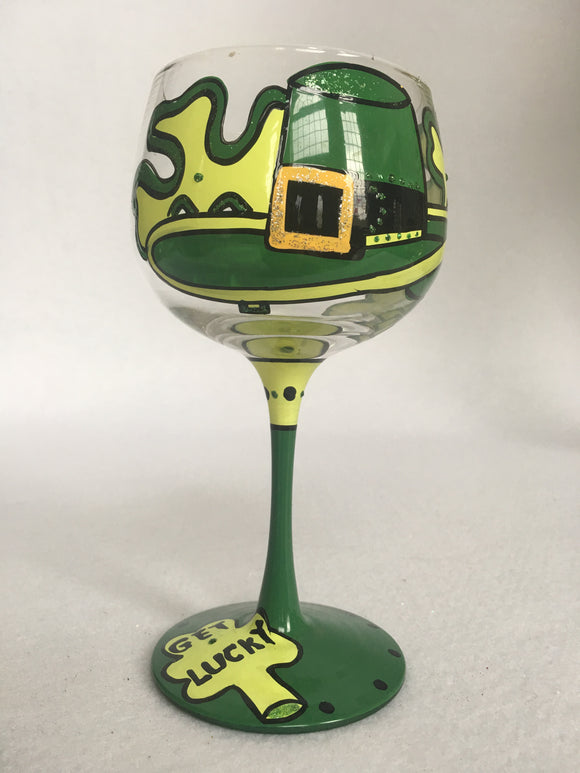 Saint Patrick's Day Wine Glass