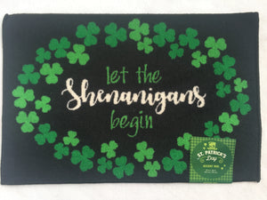 Saint Patrick's Day Let the Shenanigans Begin Accent Rug
