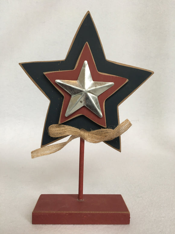 Patriotic Standing 3 Layered Star