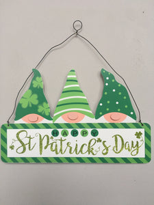 Saint Patrick's Day 3 Gnome Wall Hanging