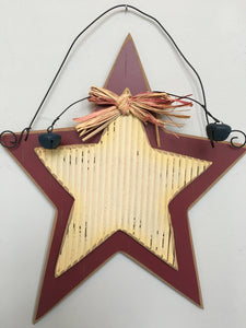 Patriotic Vintage Star Sign With Bells