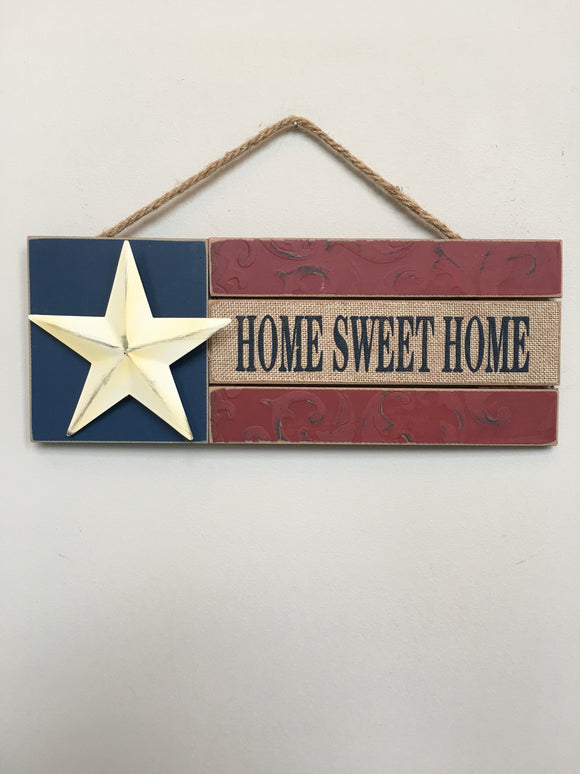 Patriotic Home Sweet Home With Star Sign
