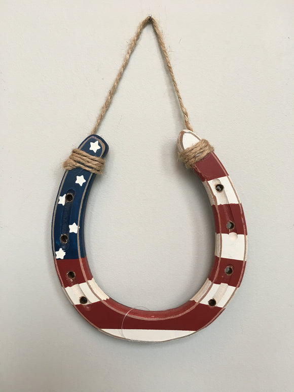 Patriotic Horse Shoe Wall Hanging