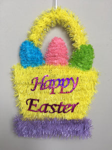 Easter Tinsel Egg Basket