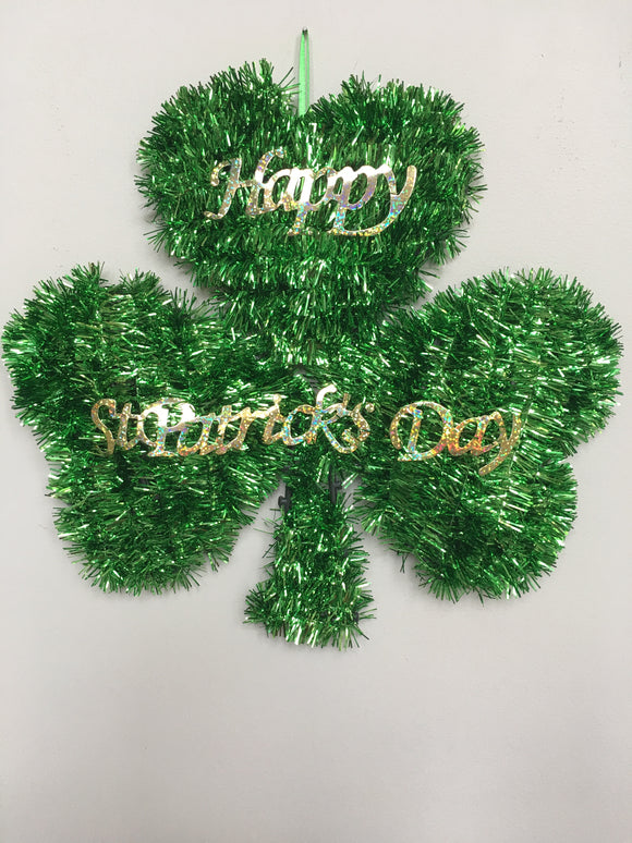 Saint Patrick's Day Tinsel Shamrock Wall Hanging