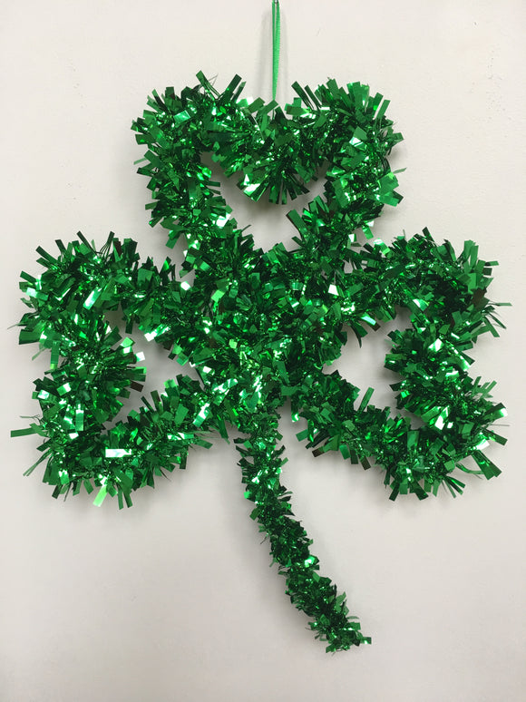 Saint Patrick's Day Tinsel Open Shamrock Wall Hanging
