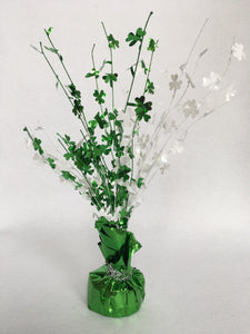 Saint Patrick's Day Green and White Burst Decoration