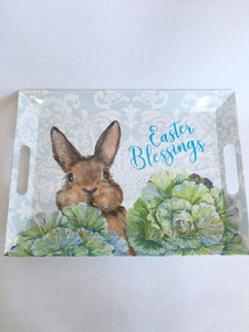 Easter Melamine Large Tray With Handles
