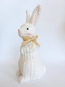 Easter Large White Standing Bunny