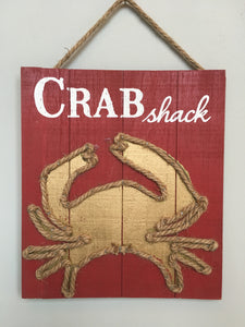 Beach Crab Shack Sign
