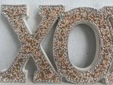 Valentine Sequin Beads XOXO Block Sitter