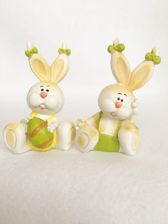 Easter Bunnies with Bows on Ears