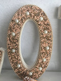 Valentine Sequin Beads and Pearls Love Block Sitter