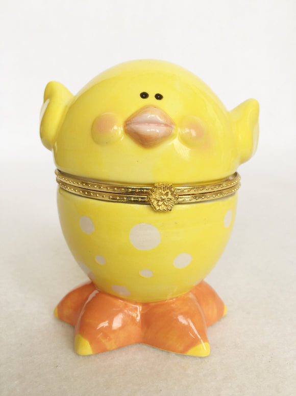 Easter Ceramic Chick Accessory Holder