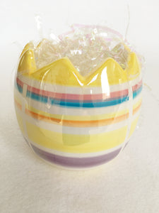 Easter Striped Iridescent Easter Egg