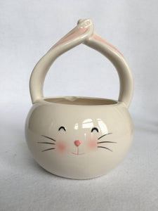 Clearance Bunny Candy Dish with Ears Crossed