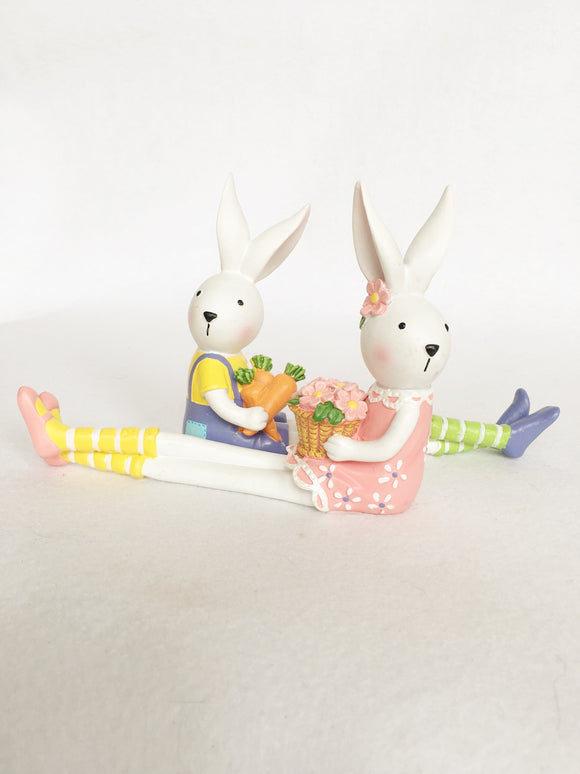Easter Bunny Sitting With Long Legs
