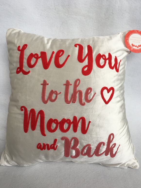 Valentine Love You To The Moon And Back Oversized Pillow
