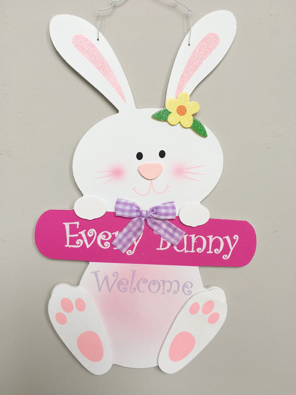 Easter Every Bunny Welcome Sign