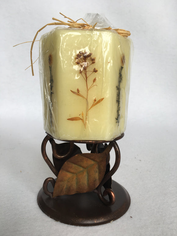 Harvest Tea Light Within Flowered Candle Display