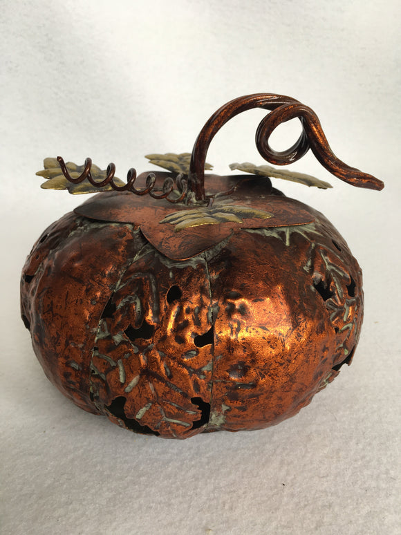 Harvest Metal Pumpkin Figurine