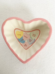 Valentine Candy Hearts Small Dish