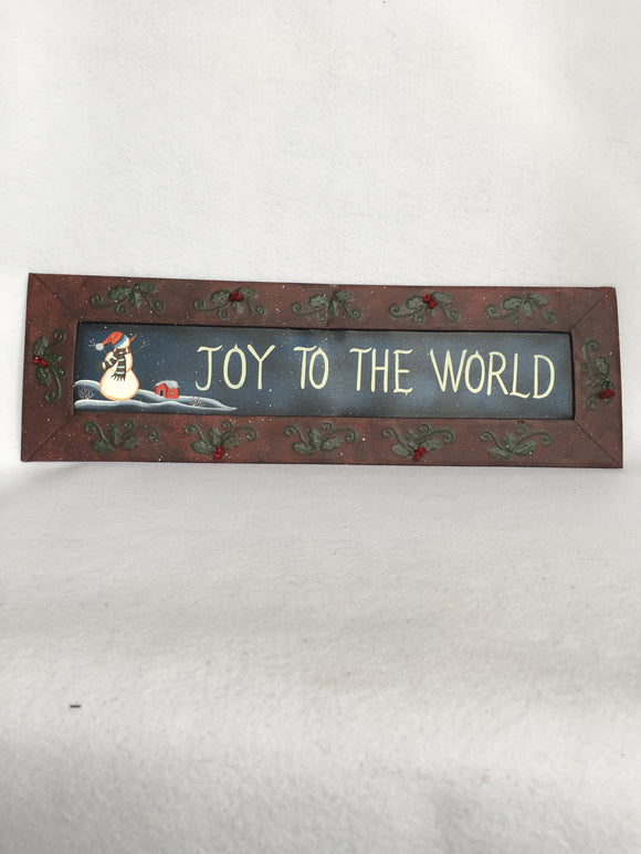 Christmas Joy to the World Metal Sign