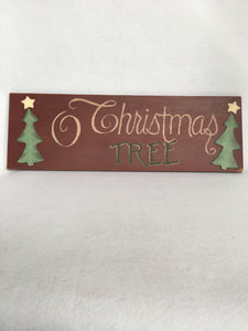 "Christmas Vintage ""O Christmas Tree"" Wood Sign"