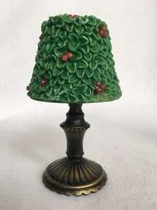 Christmas Holly Tree Embossed Candle Lamp