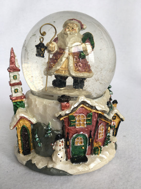 Christmas Santa is Coming to Town Musical Snow Globe