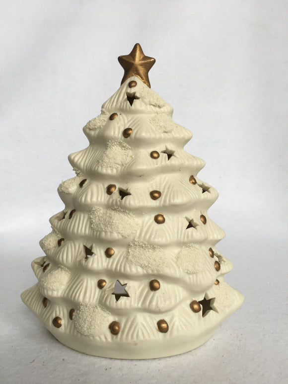 Christmas White Ceramic Tree Tea Light Holder