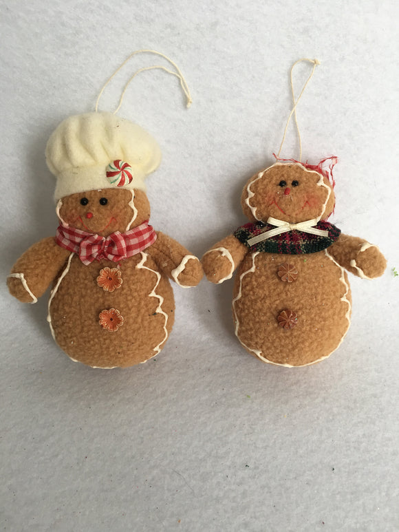 Christmas Gingerbread Boy and Girl Dolls/Ornaments