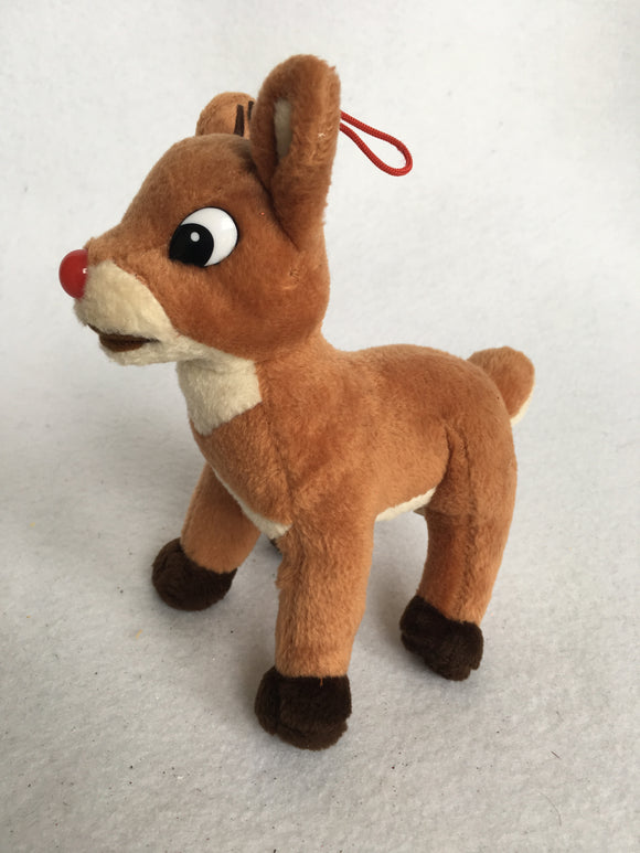 Christmas Plush Rudolph Ornament/Doll