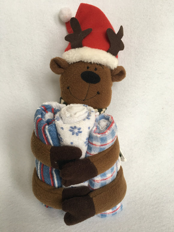 Christmas Reindeer Bathroom Finger Guest Towel Holder