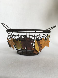 Harvest Wire Leaf Basket