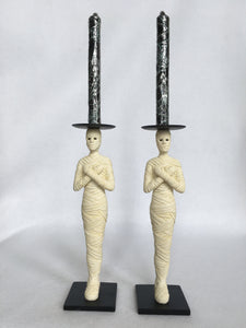 Halloween Mummy Candlestick Holders