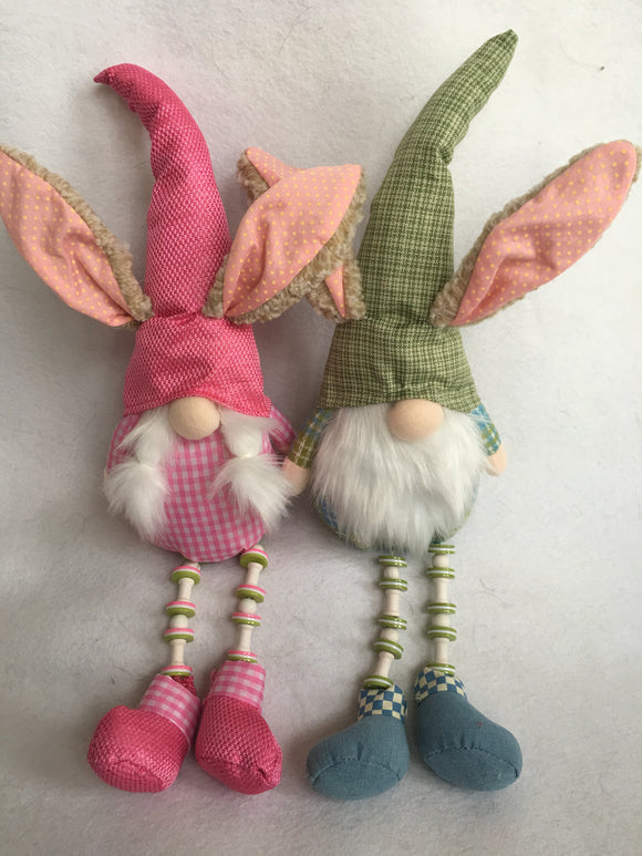 Easter Plush Boy or Girl Gnome With Rabbit Ears