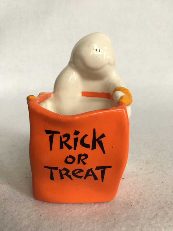Halloween Ghost Trick or Treat Candle Votice or Candy Dish