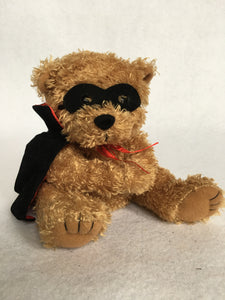 Halloween Finger Puppet Plush Bear in Dracula Costume