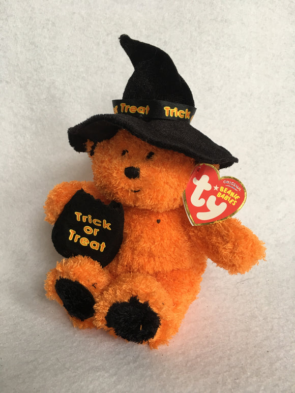 Halloween 2007 TY Beanie Baby Witchy Orange Bear