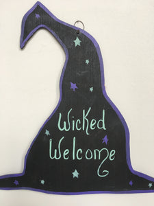 Halloween Witches Wicked Welcome SIgn