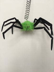 Clearance Hanging Black and Green Spider