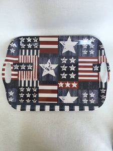 Patriotic Large Melamine Serving Tray