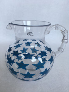 Patriotic Plastic Pitcher with Stars