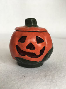 Halloween Hand Painted Ceramic Pumpkin Candle