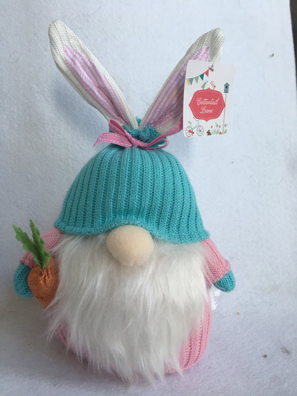 Easter Medium Plush Gnome Wearing Hat With Ears Poking Out